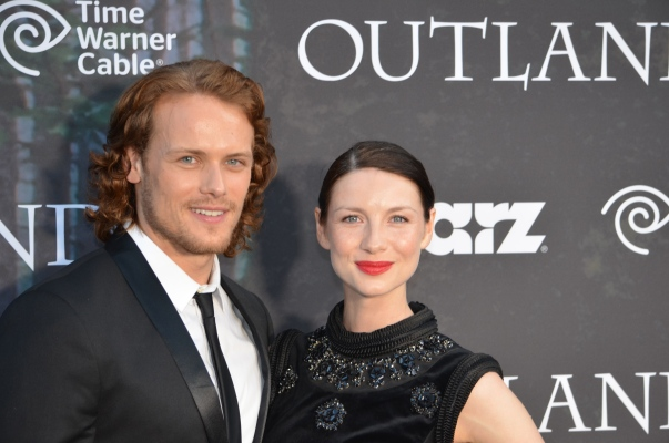 Sam Heughan and Caitriona Balfe (photo credit: Genevieve Collins)