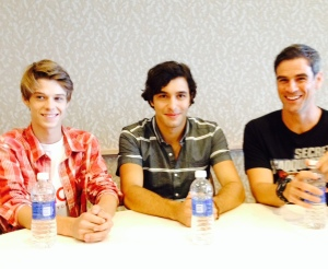 Colin Ford, Alexander Koch, Eddie Cahill (photo credit: Tiffany Vogt)
