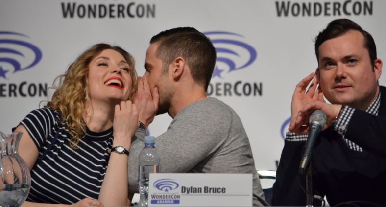 Evelyne Brochu and Dylan Bruce (photo credit: Genevieve Collins)