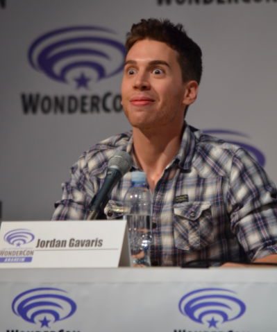 Jordan Gavaris shares his funny face at what Season 3 holds in store (photo credit: Genevieve Collins)