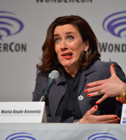 Maria Doyle Kennedy  shares her funny face at what Season 3 holds in store (photo credit: Genevieve Collins)