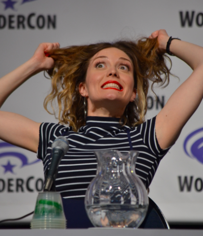 Evelyne Brochu  shares her funny face at what Season 3 holds in store (photo credit: Genevieve Collins)