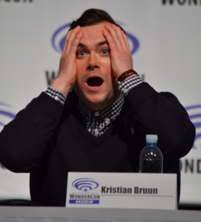 Kristian Bruun  shares his funny face at what Season 3 holds in store (photo credit: Genevieve Collins)