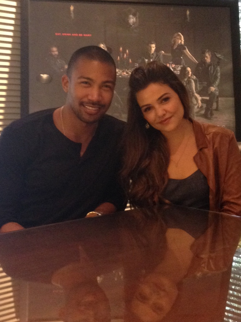 Charles Michael Davis and Danielle Campbell (photo credit:  Tiffany Vogt)