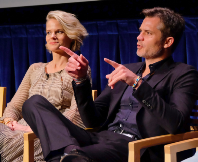 Joelle Carter and Timothy Olyphant (© Michael Bulbenko for Paley Center for Media)