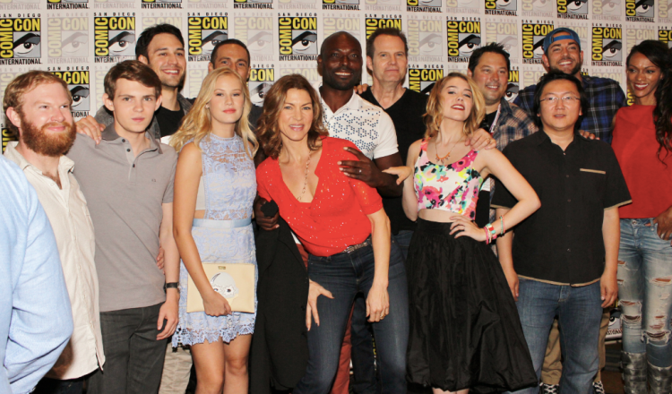 """Heroes Reborn"" cast at SDCC (photo credit: Jennifer Schadel)"