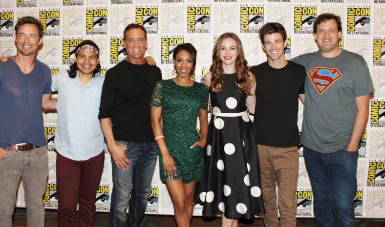 """The Flash"" cast at SDCC (photo credit: Jennifer Schadel)"