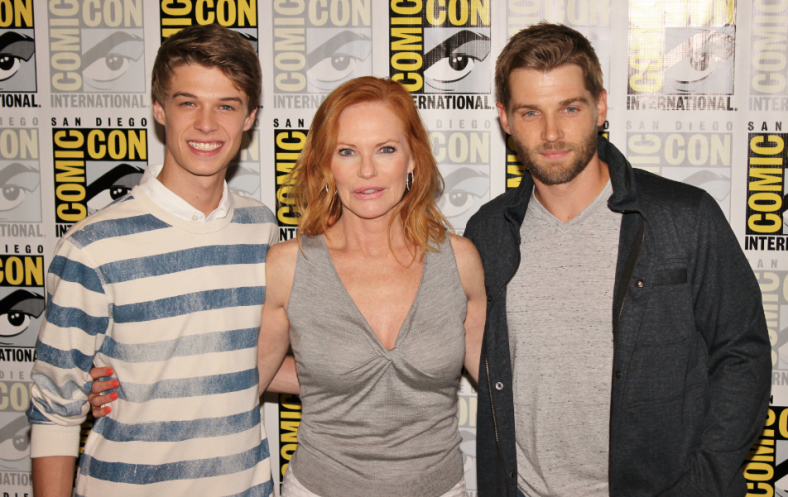 "Colin Ford, Marg Helgenberger and Mike Vogel of ""Under the Dome"" (photo credit: Jennifer Schadel)"
