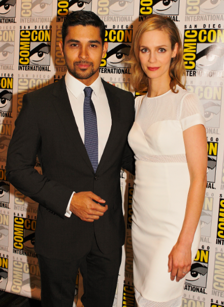 "Wilmer Valderrama and Laura Regan of ""Minority Report"" (photo credit: Jennifer Schadel)"